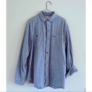 G.H. Bass & Co. Men's large chambray shirt